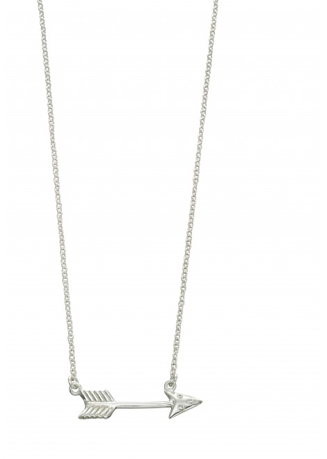 Arrow necklace with CZ