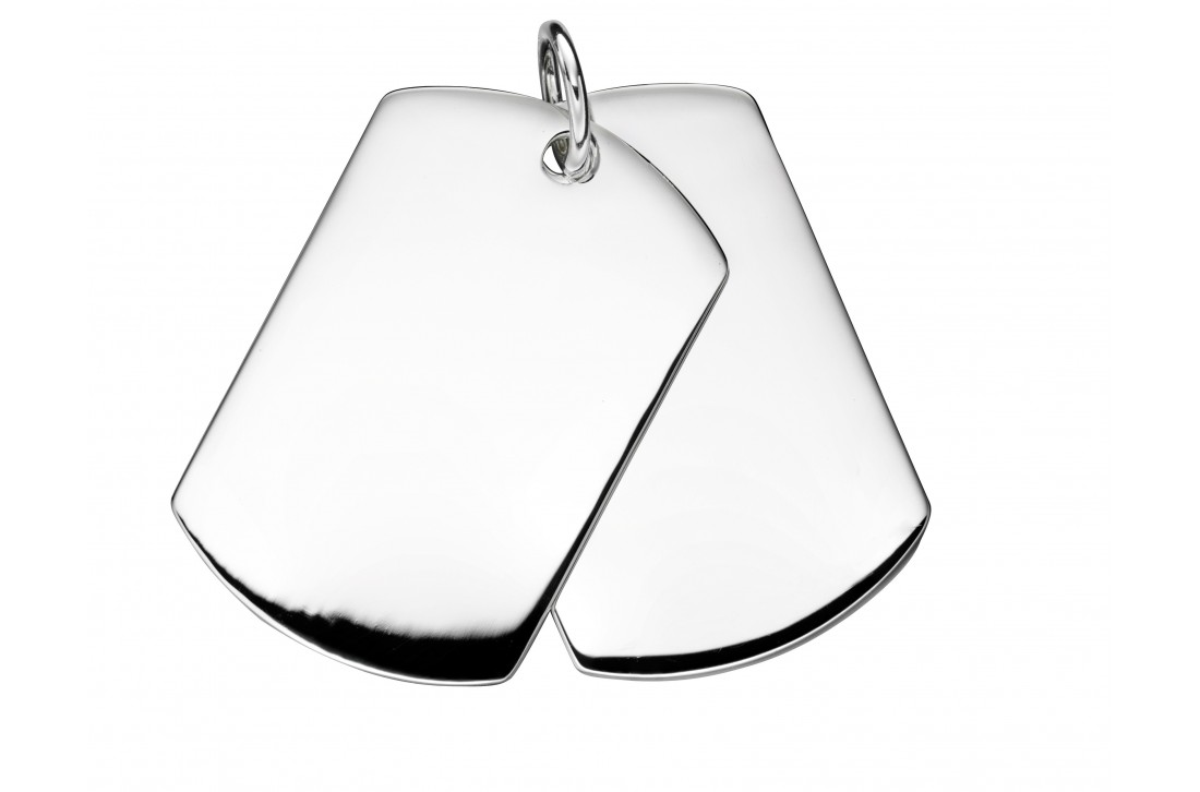 Men's double dog tag pendant