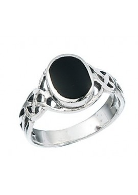 Black onyx Celtic Oval ring