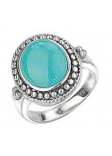 Synthetic turquoise Oval ring