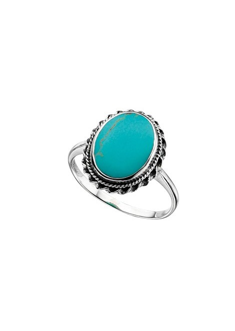 Imitation turquoise Large Oval ring