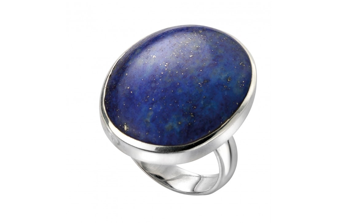 Large oval lapis ring