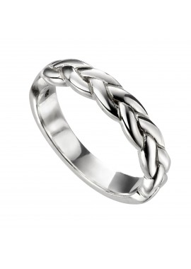 Mens plaited ring