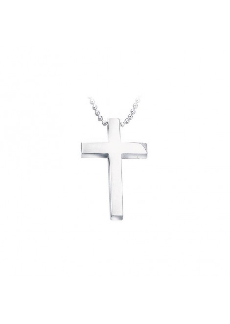 The Large Plain Cross Necklace